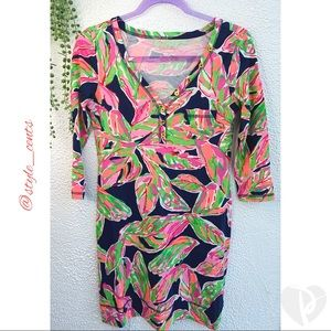 Lilly Pulitzer Pima Cotton Button Tee Dress